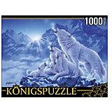 """Пазл Konigspuzzle """"Волки и ночные горы"""" 1000 элементов"""