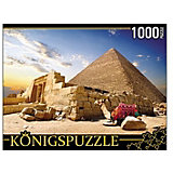 """Пазл Konigspuzzle """"Египет. Пирамиды и верблюды"""" 1000 элементов"""