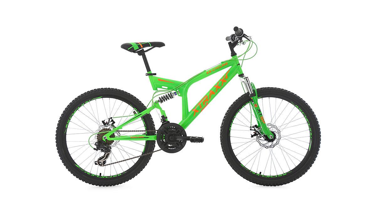 Kinder-Mountainbike 24 Zoll  Fully Xtraxx Fahrräder, Rahmenhöhe: grün