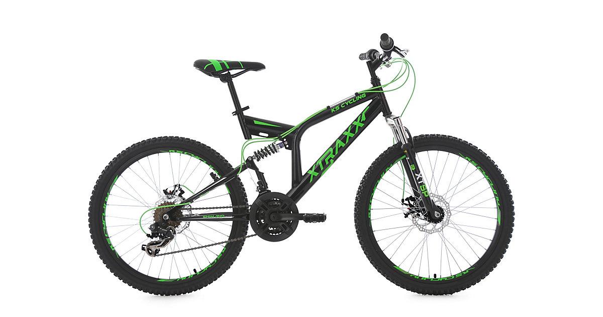 Kinder-Mountainbike 24 Zoll  Fully Xtraxx Fahrräder, Rahmenhöhe: schwarz
