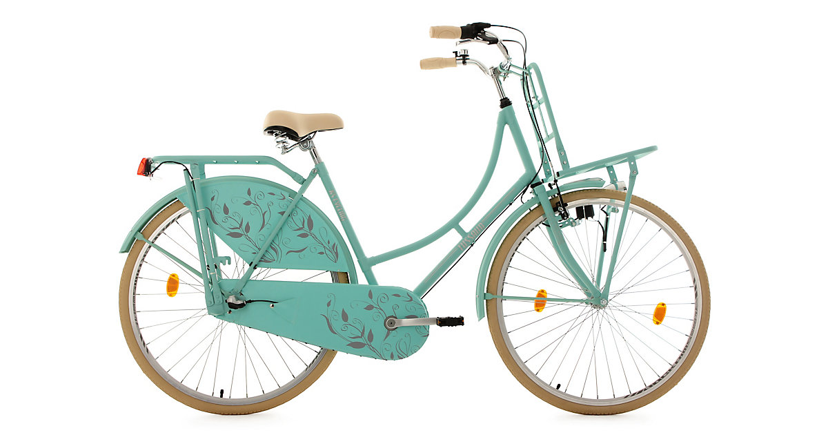 KS Cycling · Hollandrad Tussaud mit Frontgepäckträger 28 Zoll, matt grün