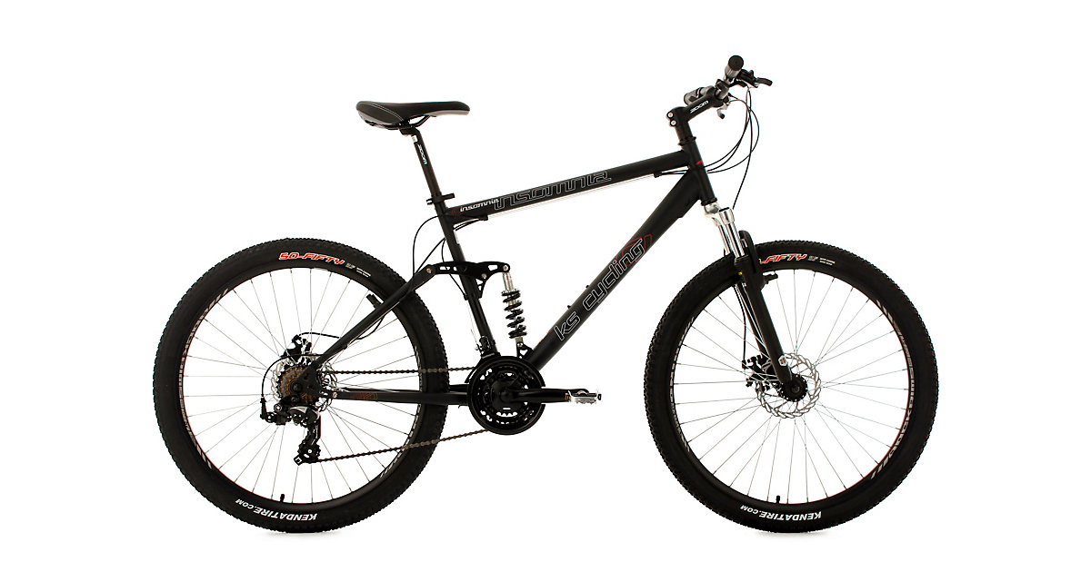 KS Cycling · Moutainbike vollgefedert Zoll 5 Zoll Insomnia 24 Insomnia, weiß-grün Gr. 28