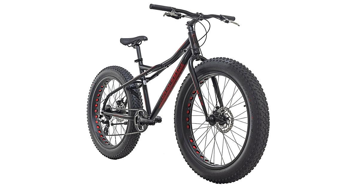KS Cycling · Moutainbike Zoll Fatbike 2458 Aluminiumrahmen 24 SNW, weiß-grün Gr. 26