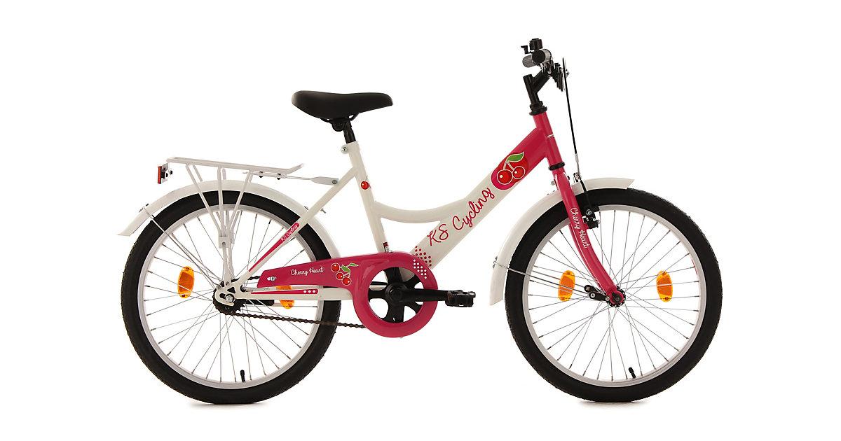 Image of Kinderfahrrad Mädchenfahrrad Cherry Heart 20 Zoll Fahrräder, Rahmenhöhe: 36 cm weiß