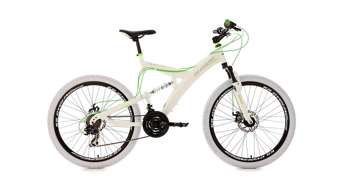 KS Cycling · Moutainbike MTB Fully 26 Zoll, weiß-grün