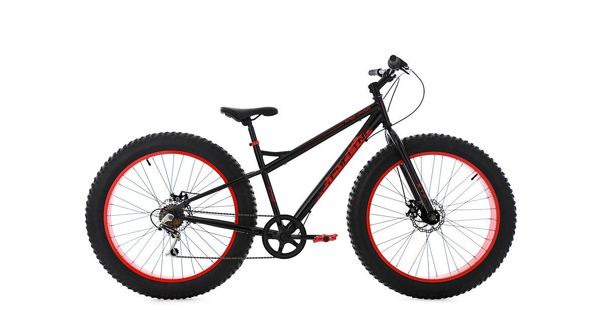 KS Cycling · Moutainbike Fatbike Zoll schwarz, schwarz-rot Gr. 26