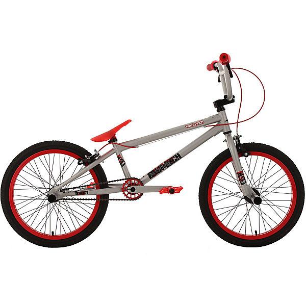 bmx fahrrad twentyinch 20 zoll silber rot ks cycling. Black Bedroom Furniture Sets. Home Design Ideas