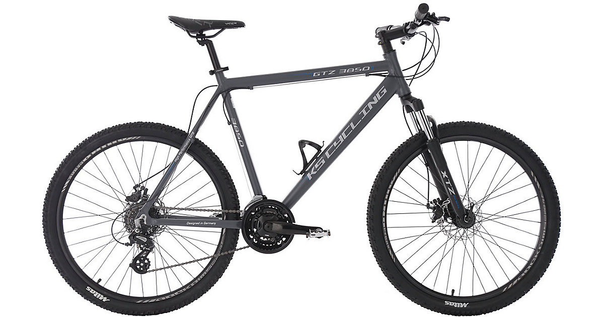 KS Cycling · Moutainbike Hardtail MTB 26 Zoll GTZ 24 Zoll, weiß-grün