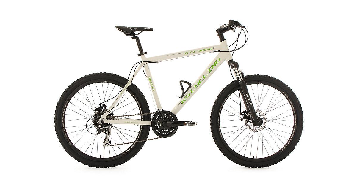 KS Cycling · Moutainbike Hardtail MTB 26 Zoll, weiß-grün