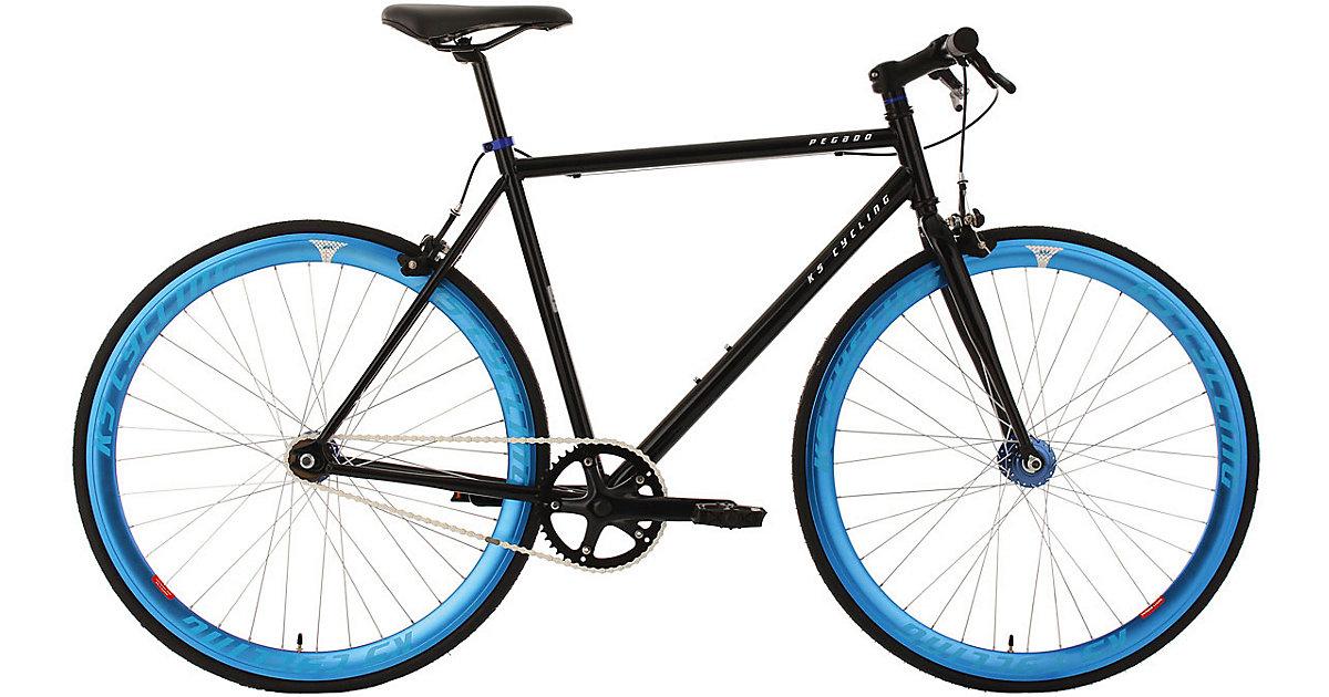 KS Cycling · Fitnessbike Fixie Pegado Rahmenhöhe 53 cm 28 Zoll, schwarz-blau