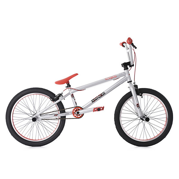 bmx fahrrad twentyinch 20 zoll silber rot mytoys. Black Bedroom Furniture Sets. Home Design Ideas