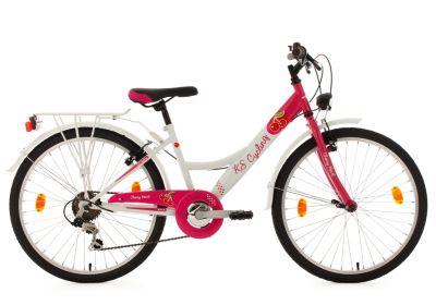 Image of Kinderfahrrad 6 Gänge Mädchenfahrrad Cherry Heart 24 Zoll Fahrräder, Rahmenhöhe: 36 cm weiß
