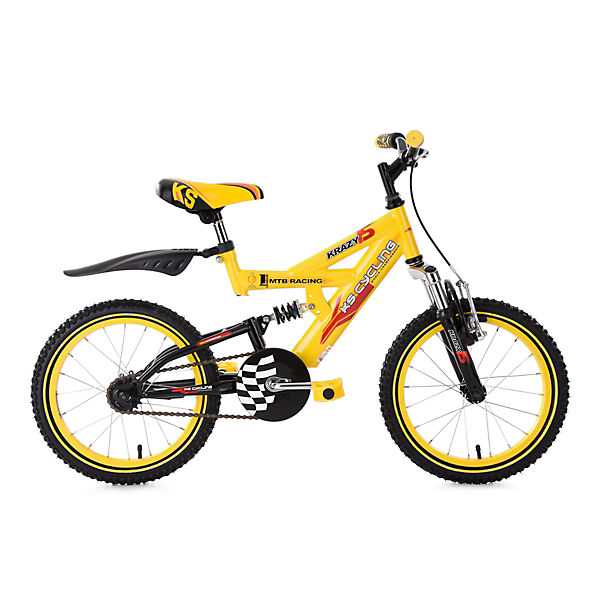 mountainbike krazy 16 zoll gelb mytoys. Black Bedroom Furniture Sets. Home Design Ideas