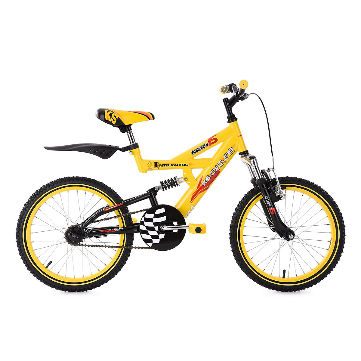 mountainbike krazy 18 zoll gelb ks cycling mytoys. Black Bedroom Furniture Sets. Home Design Ideas