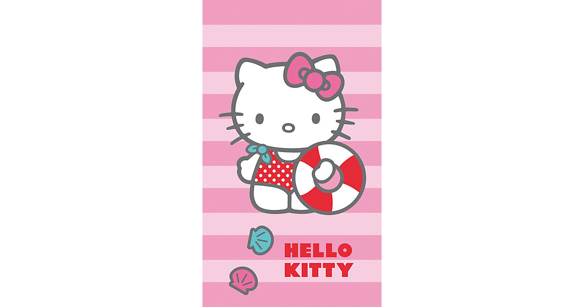 Strand- / Badetuch Hello Kitty, 70 x 120 cm rosa | Bad > Handtücher > Saunatücher | CTI