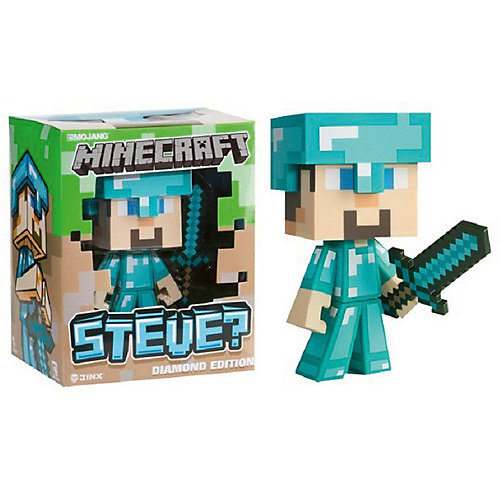 Фигурка Minecraft Steve Diamond ed. пластик 16см от Jinx