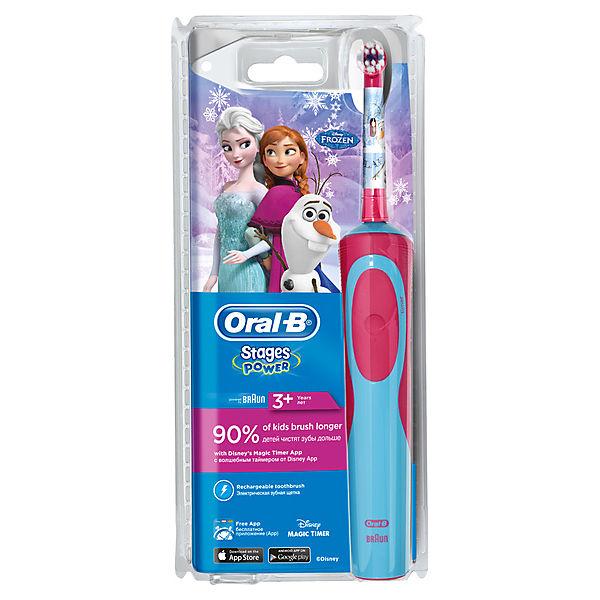 """Детская электрическая зубная щетка Oral-B Stages Power """"Frozen"""""""