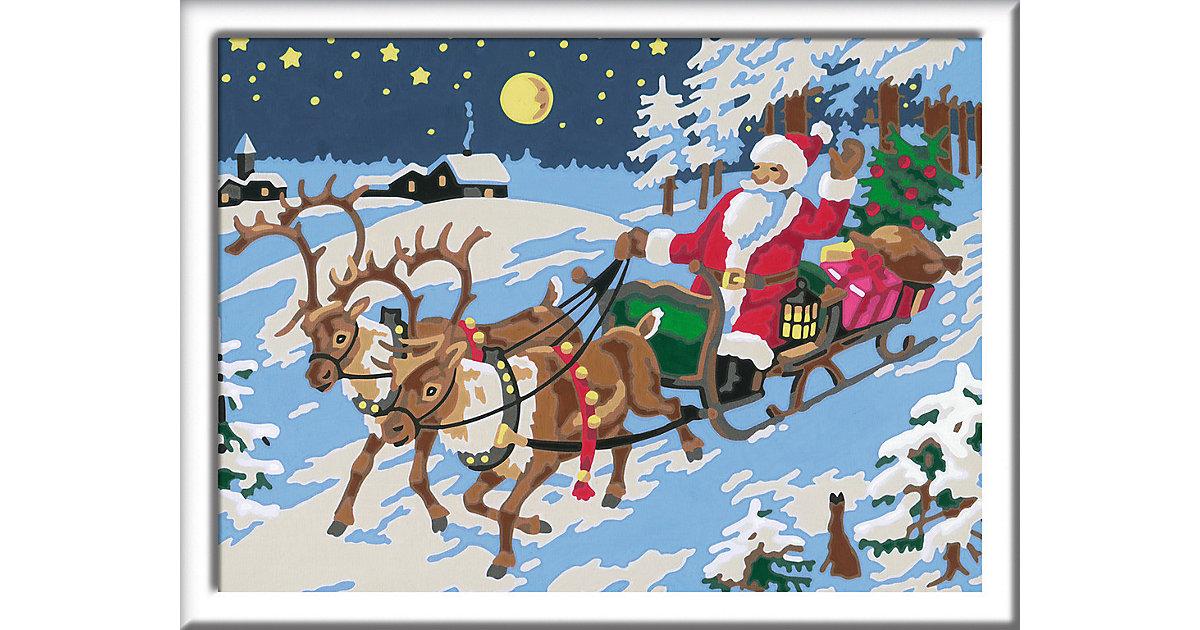 Malen nach Zahlen Frohe Weihnachten 24 x 18 cm