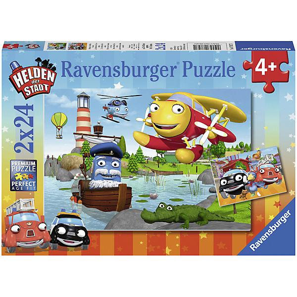 Puzzleset  2 x 24 Teile Helden der Stadt im Einsatz, Ravensburger