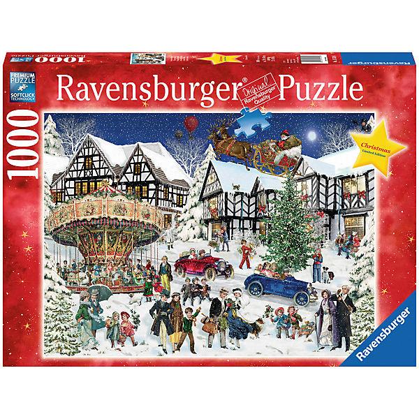 Puzzle 1000 Teile Verschneites Weihnachtsdorf, Ravensburger