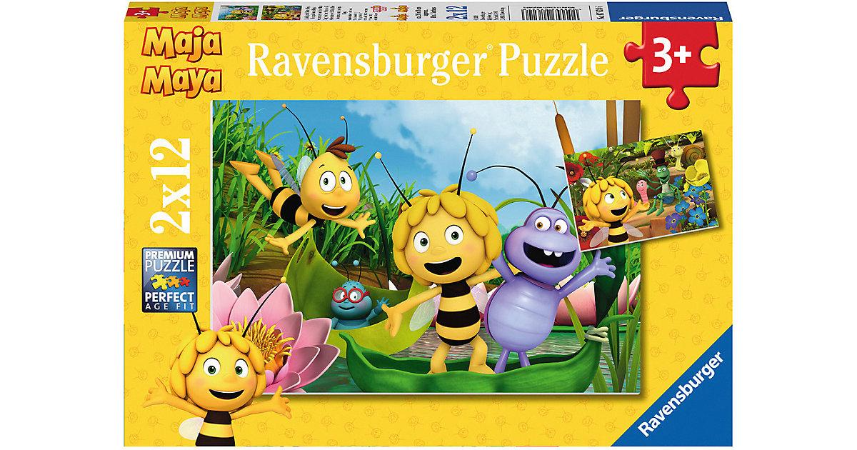 2er Set Puzzle, je 12 Teile, 26x18 cm, Ausflug mit Biene Maja