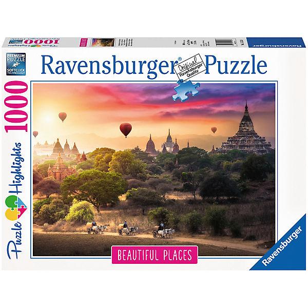 Heißluftballons über Myanmar 1000 Teile, Ravensburger Ravensburger Ravensburger 500fe6