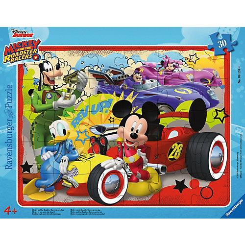 Ravensburger Rahmenpuzzle 30 Teile Mickey und die flinken Flitzer geben Gas