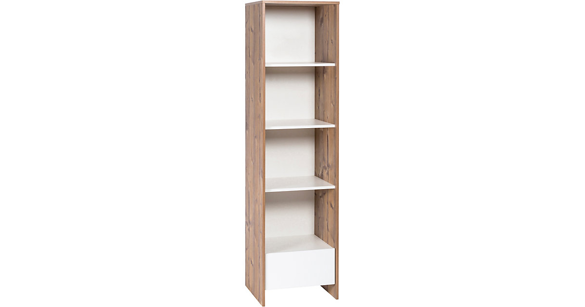 Schardt · Standregal Timber, weiß/grau lackiert, Holzdekor Bramberg Fichte