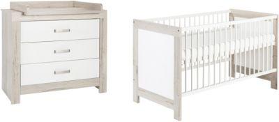 Schardt Nordic Driftwood Sparset Kinderbett und Wickelkommode NEU