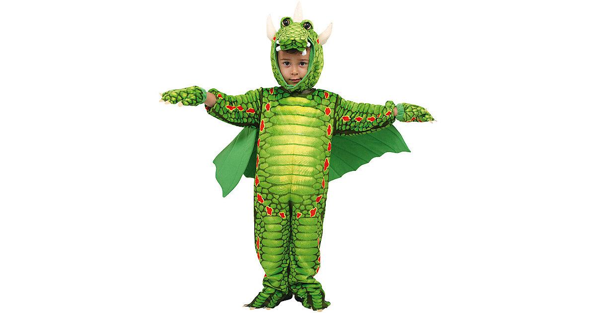 Kostüm Drachen, 4-tlg. grün Gr. 98/110 Jungen Kleinkinder
