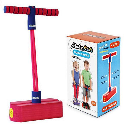 Тренажер для прыжков Moby-Jumper со звуком, розовый от Moby Kids
