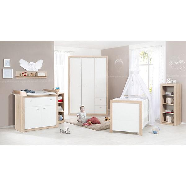 Komplett Kinderzimmer Leni 2 3 Tlg Kinderbett Wickelkommode Und Kleiderschrank 2 Turig Weiss Roba