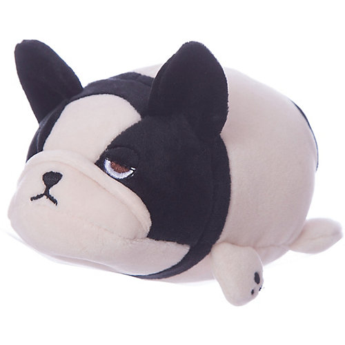 Мягкая игрушка ABtoys Собачка розовая с черным, 13 см от ABtoys