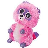 Мягкая игрушка Teddy Енотик розовый, 15 см