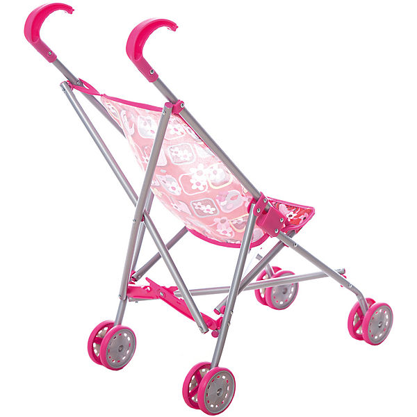 Коляска-трость для кукол Карапуз, розовая