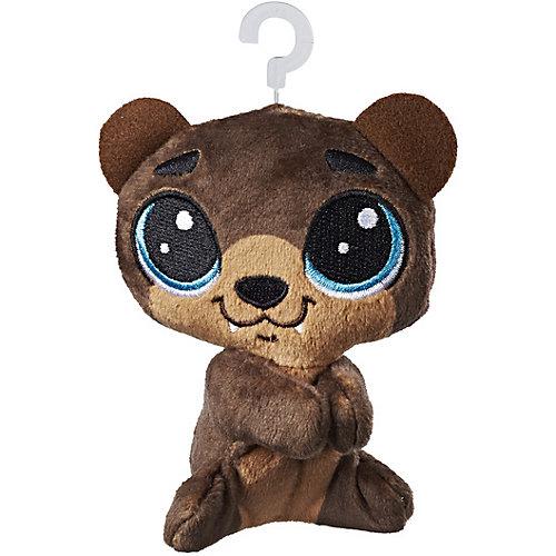 Мягкая игрушка-прилипала Little Pet Shop, Медвежонок от Hasbro