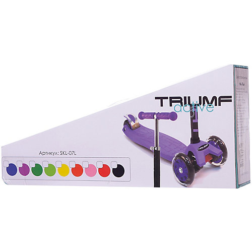 Трехколесный самокат Triumf Active Maxi Flash SKL 07-L, Red от Triumf Active