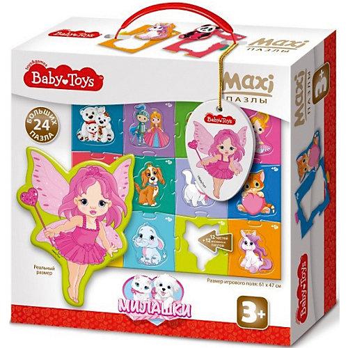"Макси пазлы Baby Toys ""Милашки"", 24 элемента на поле 61х47см от Baby Toys"