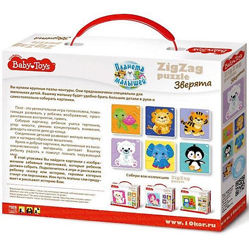"Макси пазлы Baby Toys зигзаг ""Зверята"", 18 элементов от Baby Toys"