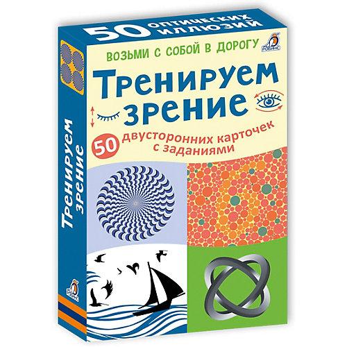 """Асборн - карточки """"Тренируем зрение"""", Робинс от Робинс"""