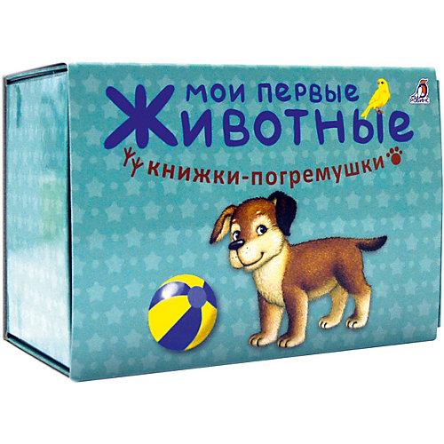 """Книжка-погремушка """"Мои первые животные"""", Гагарина М. от Робинс"""