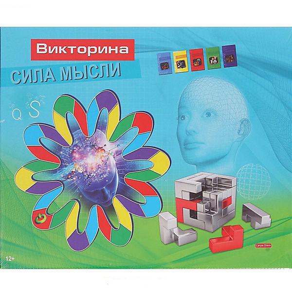 """Настольнаня игра Рыжий кот """"Викторина. Сила мысли"""", 108 карточек"""
