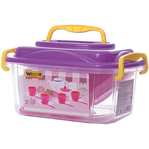 """Набор игрушечной посуды Полесье """"Алиса"""" 19 предметов на 4 персоны, в контейнере от Полесье"""