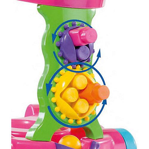 Каталка игровая с конструктором Полесье 13 деталей, розовая, в коробке от Полесье
