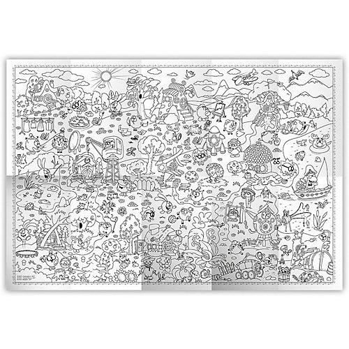 """Раскраска в конверте """"Страна смешариков. Серия Познаю мир"""", Издательство ГеоДом, 90х60 см от ГеоДом"""