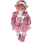 """Кукла-пупс Munecas Antonio Juan """"Саманта"""" в розовом, 40 см"""
