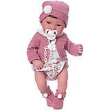 """Кукла-пупс Munecas Antonio Juan """"Сэнди"""" в розовом, 40 см"""