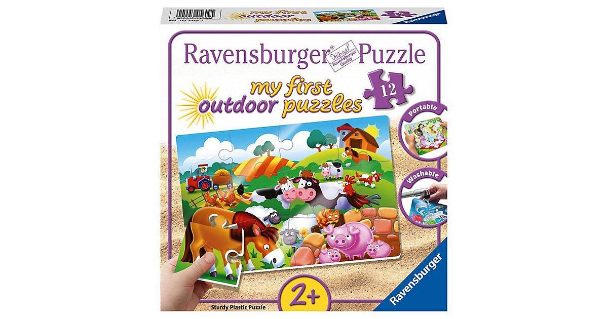 my first Outdoor-Puzzle, 12 Teile, 26x18 cm, Liebe Bauernhoftiere