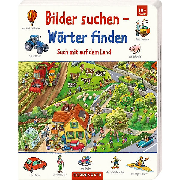 Bilder suchen - Wörter finden: Such mit auf dem Land, Coppenrath Verlag