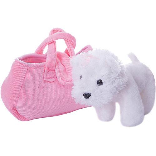"""Мягкая игрушка Играем вместе """"My friends"""" Собачка в сумке, белая, 19см от Играем вместе"""